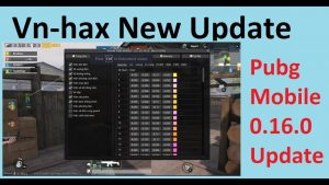 VnHAX beta Version for Pubg mobile new update 0.16.0